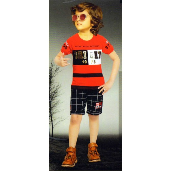 T- Shirt and Pants for Boys (Baba Suits) Red Color