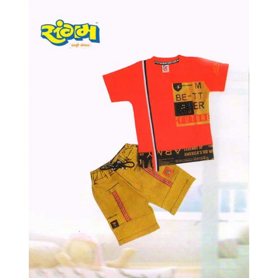 T- Shirt and Pants for Boys (Baba Suits) Black Color